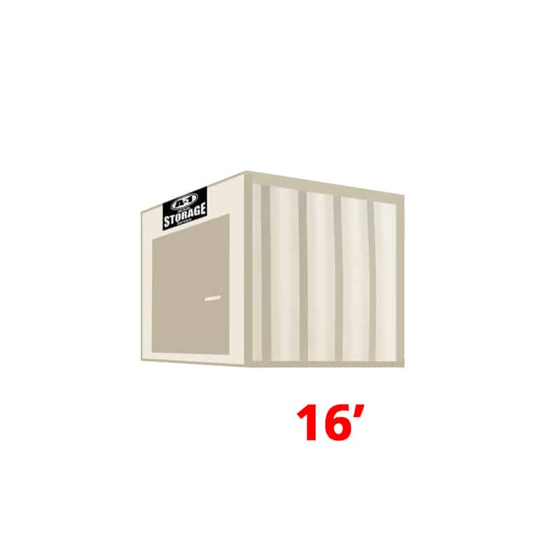 16' High Cube Container