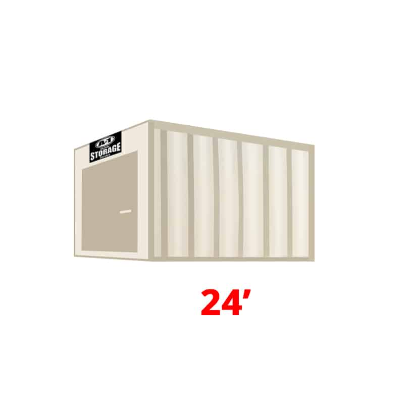 24' High Cube Container